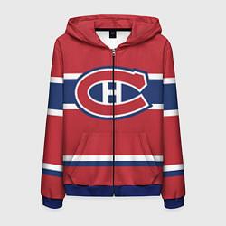 Толстовка 3D на молнии мужская Montreal Canadiens цвета 3D-синий — фото 1