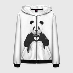 Мужская толстовка на молнии Panda Love