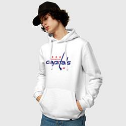 Толстовка-худи хлопковая мужская Washington Capitals цвета белый — фото 2