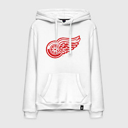 Толстовка-худи хлопковая мужская Detroit Red Wings цвета белый — фото 1