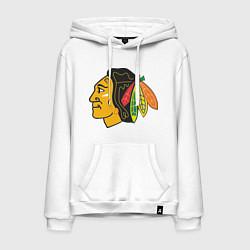 Толстовка-худи хлопковая мужская Chicago Blackhawks цвета белый — фото 1