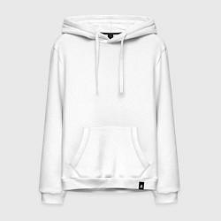 Толстовка-худи хлопковая мужская Скриптонит цвета белый — фото 1