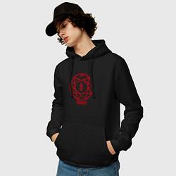Толстовка-худи хлопковая мужская Slipknot Penragram цвета черный — фото 2