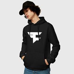 Толстовка-худи хлопковая мужская FAZE Symbol цвета черный — фото 2