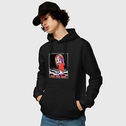 Толстовка-худи хлопковая мужская 6ix9ine цвета черный — фото 2