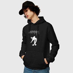 Толстовка-худи хлопковая мужская Ghostemane 2 цвета черный — фото 2