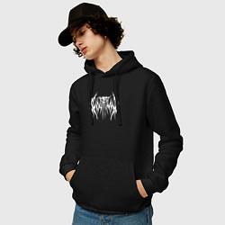Толстовка-худи хлопковая мужская Ghostemane цвета черный — фото 2