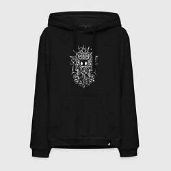 Толстовка-худи хлопковая мужская Hollow Knight цвета черный — фото 1