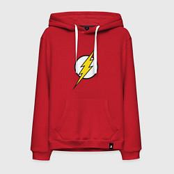 Толстовка-худи хлопковая мужская Flash цвета красный — фото 1