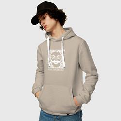 Толстовка-худи хлопковая мужская MRROBOT цвета миндальный — фото 2