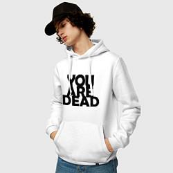 Толстовка-худи хлопковая мужская DayZ: You are Dead цвета белый — фото 2
