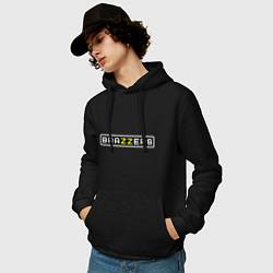 Толстовка-худи хлопковая мужская Brazzers цвета черный — фото 2