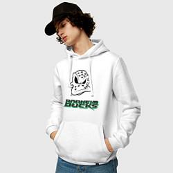 Толстовка-худи хлопковая мужская HC Anaheim Ducks Art цвета белый — фото 2