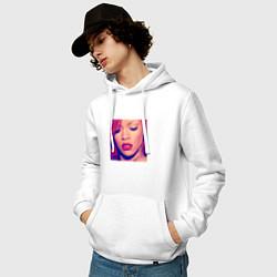 Толстовка-худи хлопковая мужская Rihanna Loud цвета белый — фото 2
