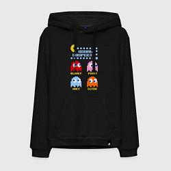 Толстовка-худи хлопковая мужская Pac-Man: Usual Suspects цвета черный — фото 1