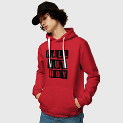 Толстовка-худи хлопковая мужская Fall Out Boy: Words цвета красный — фото 2