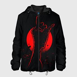 Куртка с капюшоном мужская Zombie Rock цвета 3D-черный — фото 1