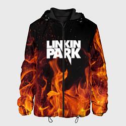 Куртка с капюшоном мужская Linkin Park: Hell Flame цвета 3D-черный — фото 1