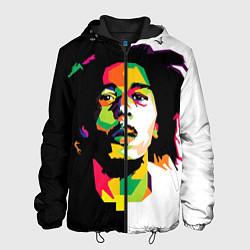 Куртка с капюшоном мужская Bob Marley: Colors цвета 3D-черный — фото 1