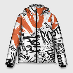 Куртка зимняя мужская Paramore: Riot цвета 3D-черный — фото 1