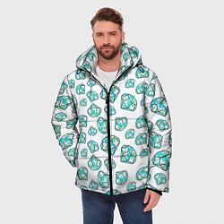 Куртка зимняя мужская Бриллианты цвета 3D-черный — фото 2