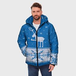 Куртка зимняя мужская Олень - класс цвета 3D-черный — фото 2