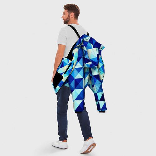 Мужская зимняя куртка Синяя геометрия / 3D-Черный – фото 5