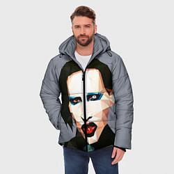 Куртка зимняя мужская Mаrilyn Manson Art цвета 3D-черный — фото 2