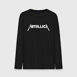 Лонгслив хлопковый мужской Metallica цвета черный — фото 1