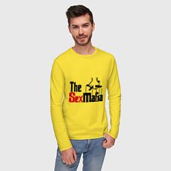 Лонгслив хлопковый мужской The SexMafia цвета желтый — фото 2
