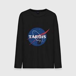 Лонгслив хлопковый мужской Tardis NASA цвета черный — фото 1