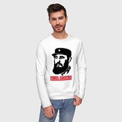 Лонгслив хлопковый мужской Fidel Castro цвета белый — фото 2