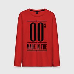 Лонгслив хлопковый мужской Made in the 00s цвета красный — фото 1