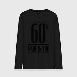 Лонгслив хлопковый мужской Made in the 60s цвета черный — фото 1