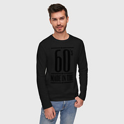 Лонгслив хлопковый мужской Made in the 60s цвета черный — фото 2