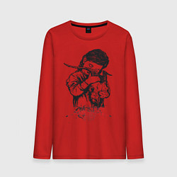 Лонгслив хлопковый мужской Chelsea Grin: Demon Girl цвета красный — фото 1