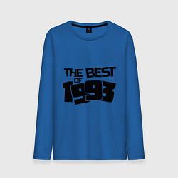 Лонгслив хлопковый мужской The best of 1993 цвета синий — фото 1