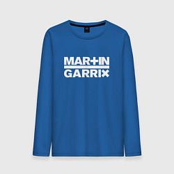 Лонгслив хлопковый мужской Martin Garrix цвета синий — фото 1