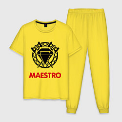 Пижама хлопковая мужская Dwarf Fighter - Maestro цвета желтый — фото 1