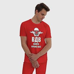 Пижама хлопковая мужская ВДВ цвета красный — фото 2