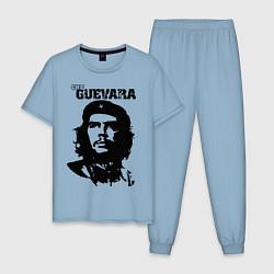 Пижама хлопковая мужская Che Guevara цвета мягкое небо — фото 1