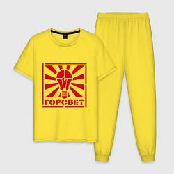 Пижама хлопковая мужская Горсвет цвета желтый — фото 1