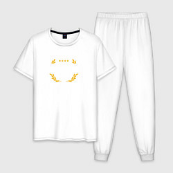 Пижама хлопковая мужская Rainbow six | Siege : Pro league (white) цвета белый — фото 1