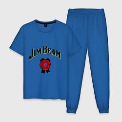 Пижама хлопковая мужская Jim Beam цвета синий — фото 1