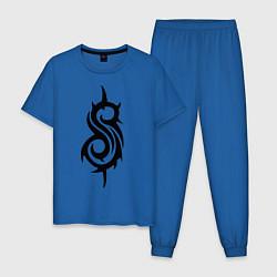 Пижама хлопковая мужская Slipknot цвета синий — фото 1