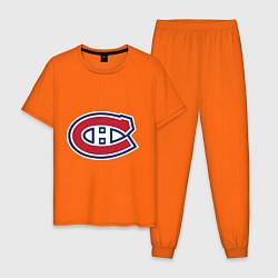 Пижама хлопковая мужская Montreal Canadiens цвета оранжевый — фото 1