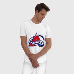Пижама хлопковая мужская Colorado Avelanche цвета белый — фото 2