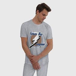 Пижама хлопковая мужская Tampa Bay цвета меланж — фото 2