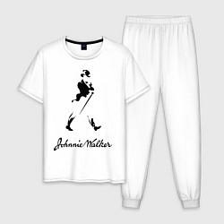 Пижама хлопковая мужская Johnnie Walker цвета белый — фото 1