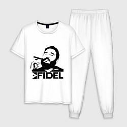 Пижама хлопковая мужская FIdel цвета белый — фото 1